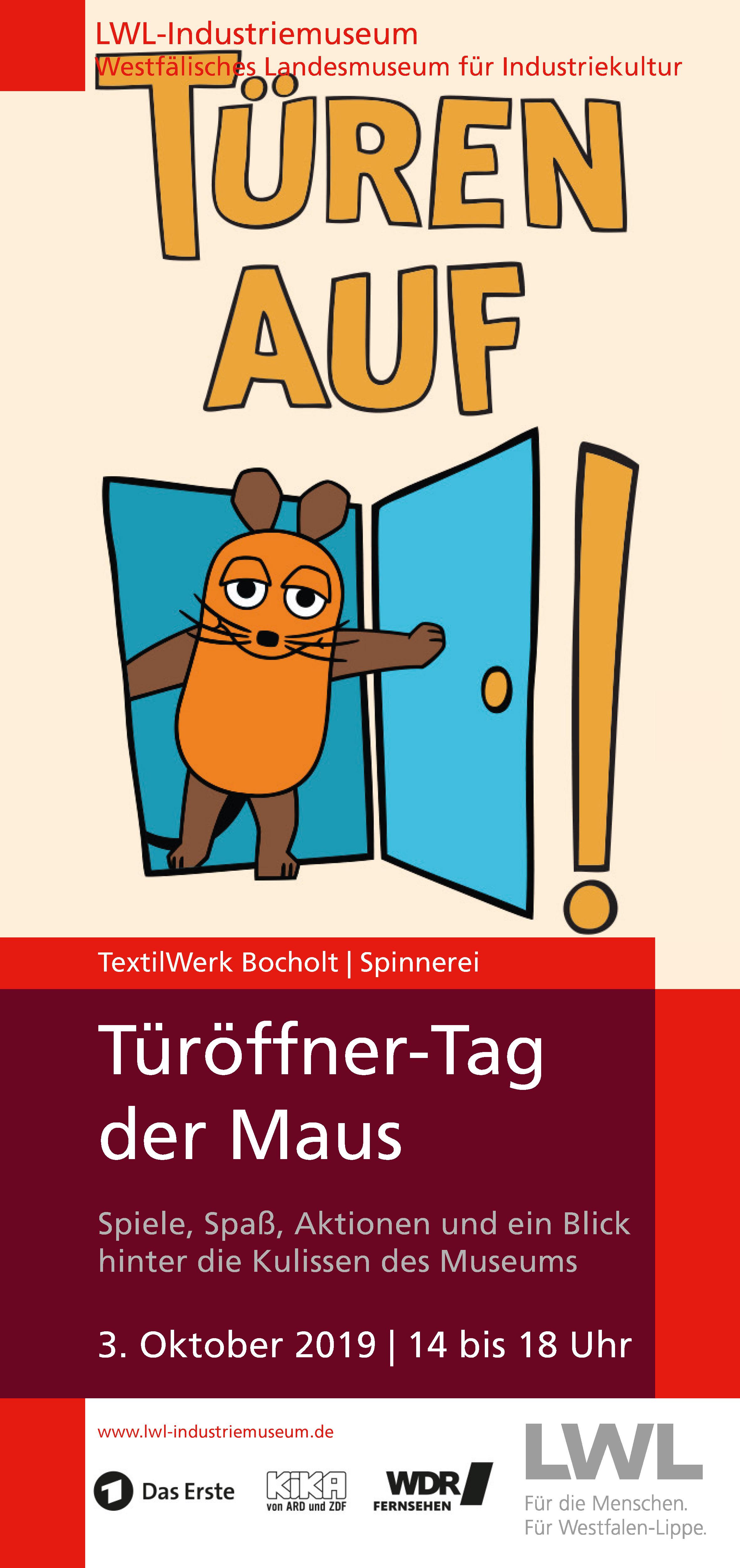 Türöffner-Tag der Maus am 3.10.2019 im TextilWerk