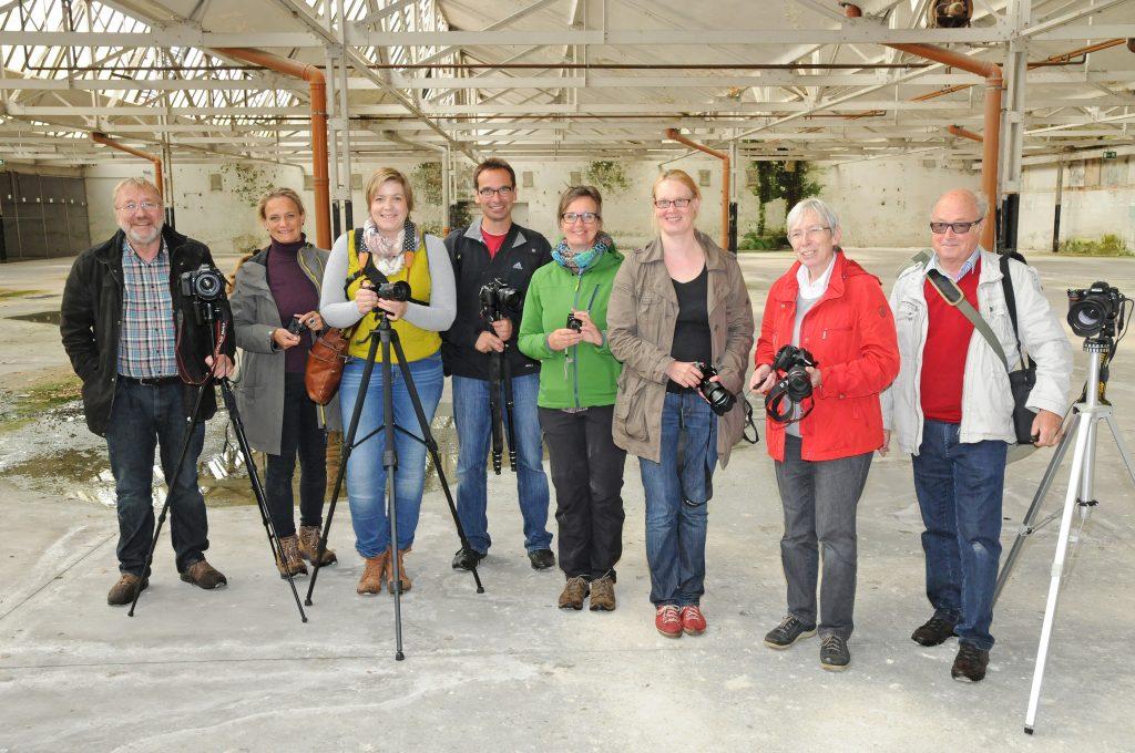 Die Teilnehmer des Fotoworkshops 2015 im KuBAaI-Quartier - Foto: Bruno Wansing, bocholt.de